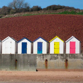 Beach huts near Paignton