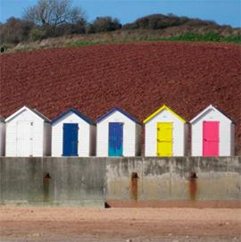 Beach huts near Paignton